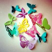 бумажные бабочки на стене своими руками фото 4