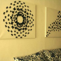 бумажные бабочки на стене своими руками фото 7