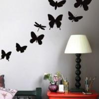 бумажные бабочки на стене своими руками фото 8