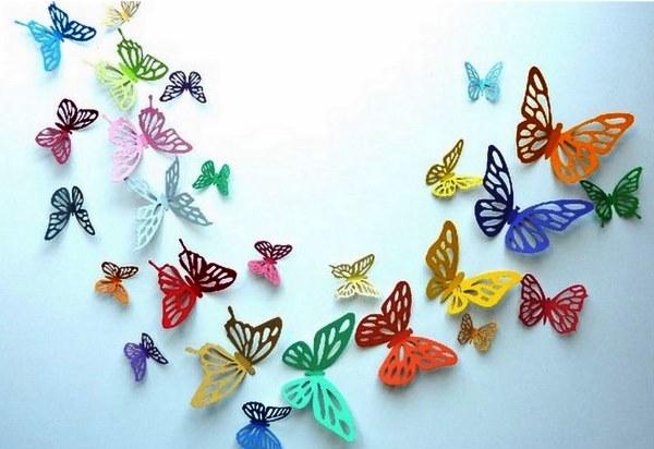 декор бабочки на стене фото