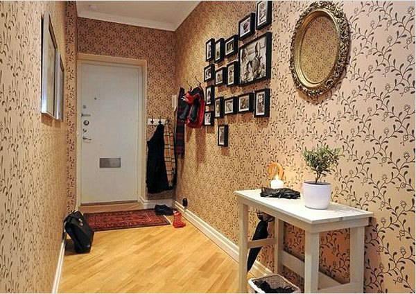 дизайн обоев в коридоре фото 5
