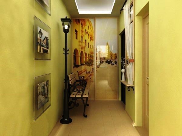 дизайн обоев в коридоре фото 6