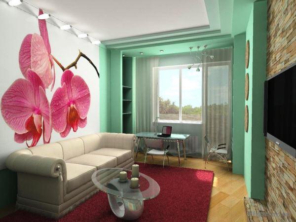 дизайн интерьера маленькой гостиной в современном стиле фото