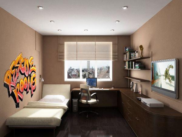 дизайн комнаты подростка фото 2015 современные идеи обои