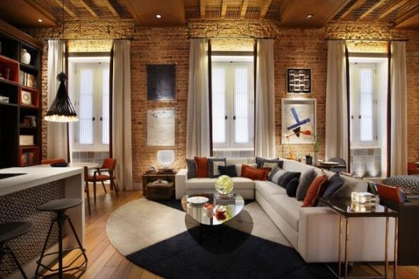 интерьер современной гостиной фото
