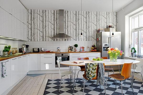 какой цвет обоев выбрать для кухни фото 3