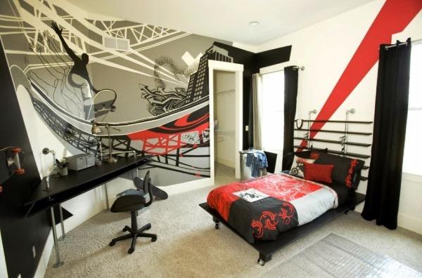 комната для мальчика подростка с фотообоями