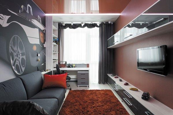 комната с фотообоями для подростка фото 3