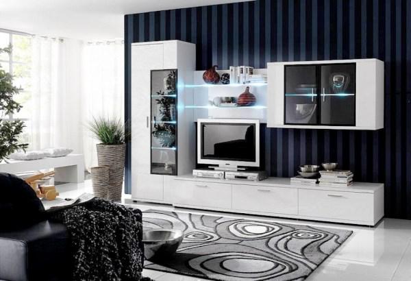 стенка для гостиной в современном стиле фото