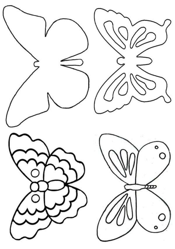 трафарет бабочки на стену фото