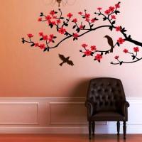трафарет цветов на стену фото 27