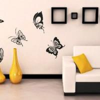 трафарет цветов на стену фото 29