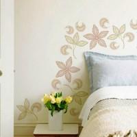 трафарет цветов на стену фото 32