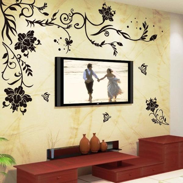 трафарет цветов на стену фото 5