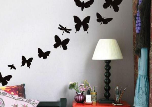 трафарет цветов на стену фото