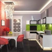 цвет обоев для кухни фото 12