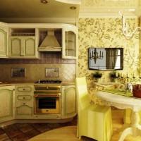 цвет обоев для кухни фото
