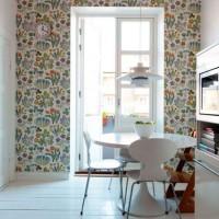 цвет обоев для кухни фото 23