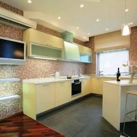цвет обоев для кухни фото 24