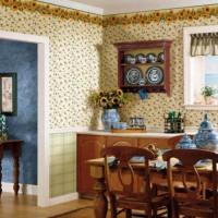 цвет обоев для кухни фото 33