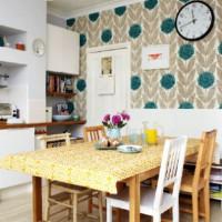 цвет обоев для кухни фото 35