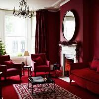 бордовый цвет в интерьере фото 2