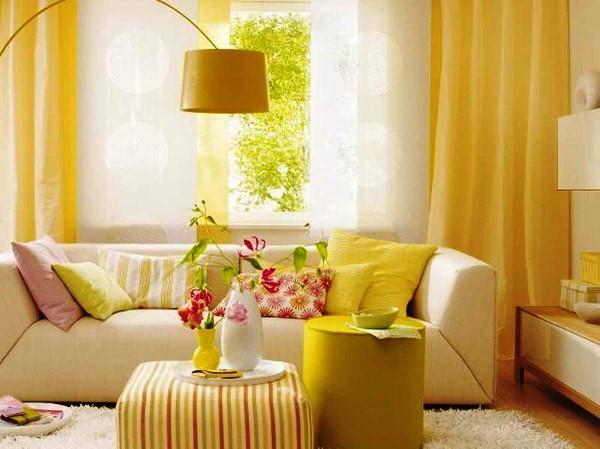 интерьеры в желтых тонах фото