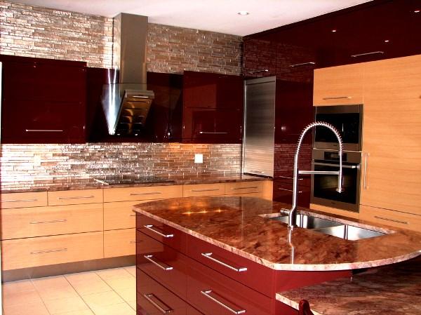 кухни цвета бордо фото