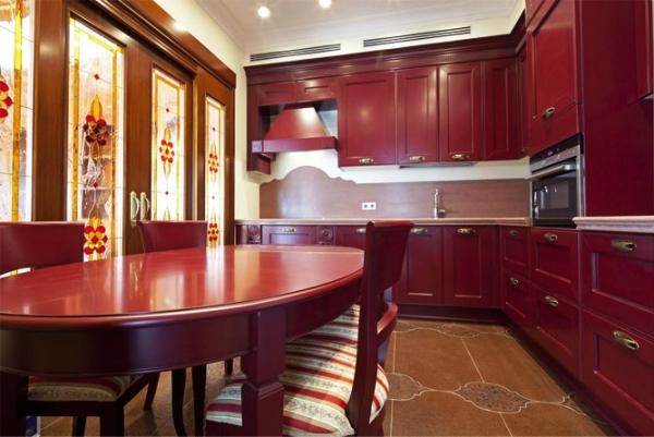 кухня бордо фото