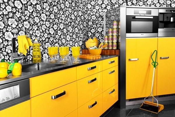 сочетание цветов с желтым в интерьере фото 15