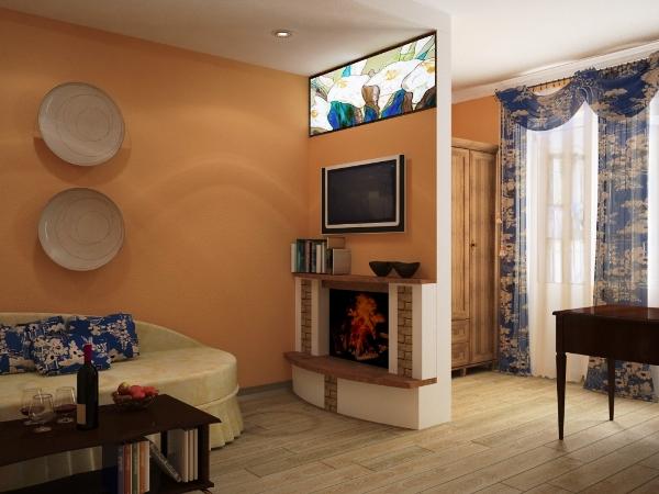 Дизайн спальни и гостиной в однокомнатной квартире