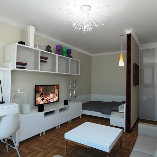 Современный дизайн однокомнатной квартиры, фото