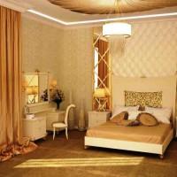 спальня в бежевых тонах фото 30