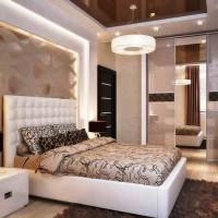 спальня в бежевых тонах фото 33