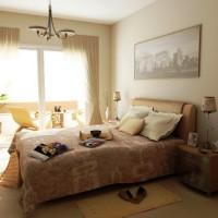 спальня в бежевых тонах фото 34