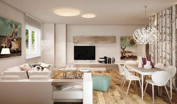 белая гостиная в интерьере фото