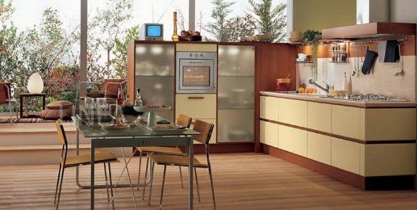 бежевая кухня в интерьере фото