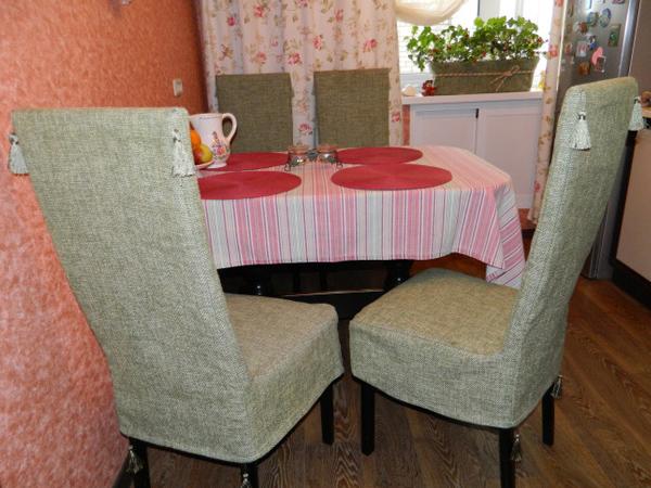 чехлы на кухонные стулья со спинкой фото 7