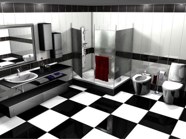 черно белый интерьер фото 3