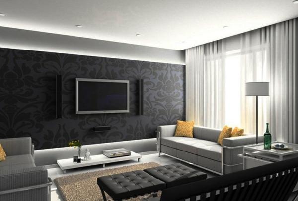 черно белый интерьер квартиры фото