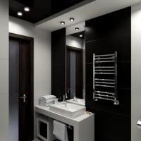дизайн комнаты в черно белых тонах фото 11