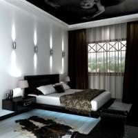 дизайн комнаты в черно белых тонах фото 12