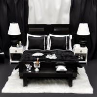 дизайн комнаты в черно белых тонах фото 2