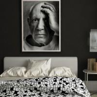 дизайн комнаты в черно белых тонах фото 30