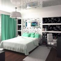 дизайн комнаты в черно белых тонах фото 32