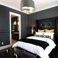 дизайн комнаты в черно белых тонах фото 36