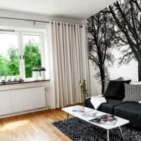 дизайн комнаты в черно белых тонах фото 38