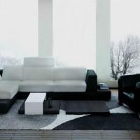 дизайн комнаты в черно белых тонах фото 42