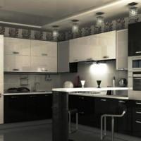 дизайн комнаты в черно белых тонах фото 5