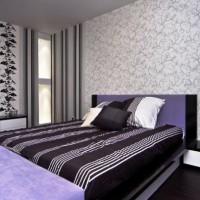 дизайн спальни с обоями двух цветов фото 19